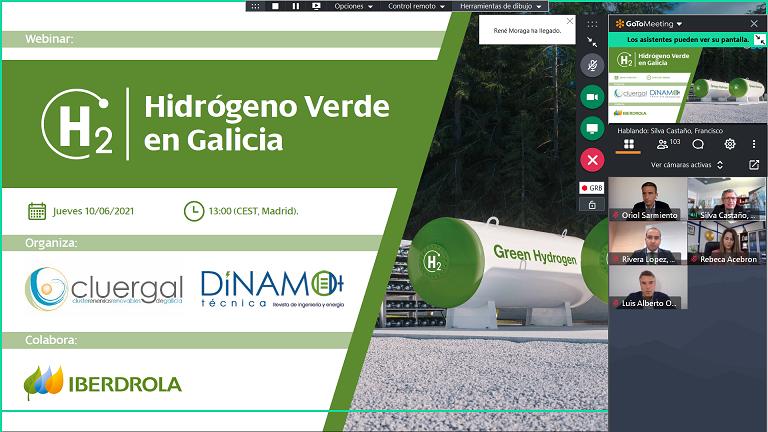 Más de 120 participantes en el Webinar sobre Hidrógeno Renovable en Galicia